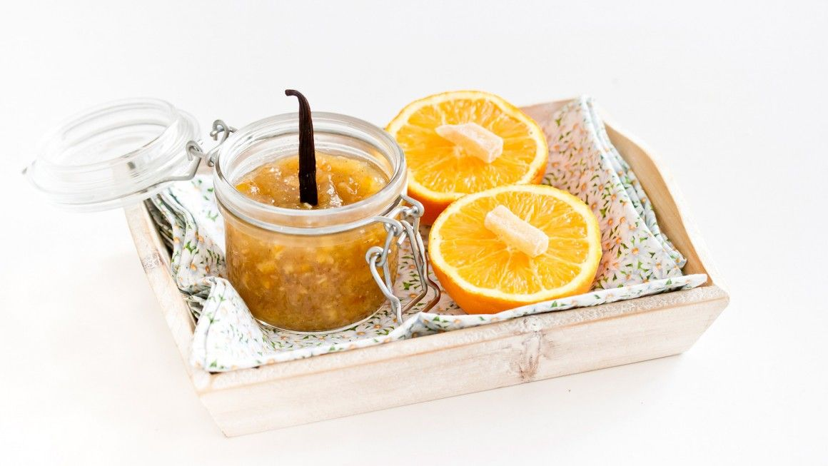 marmella di arence con zenzero candito e vaniglia