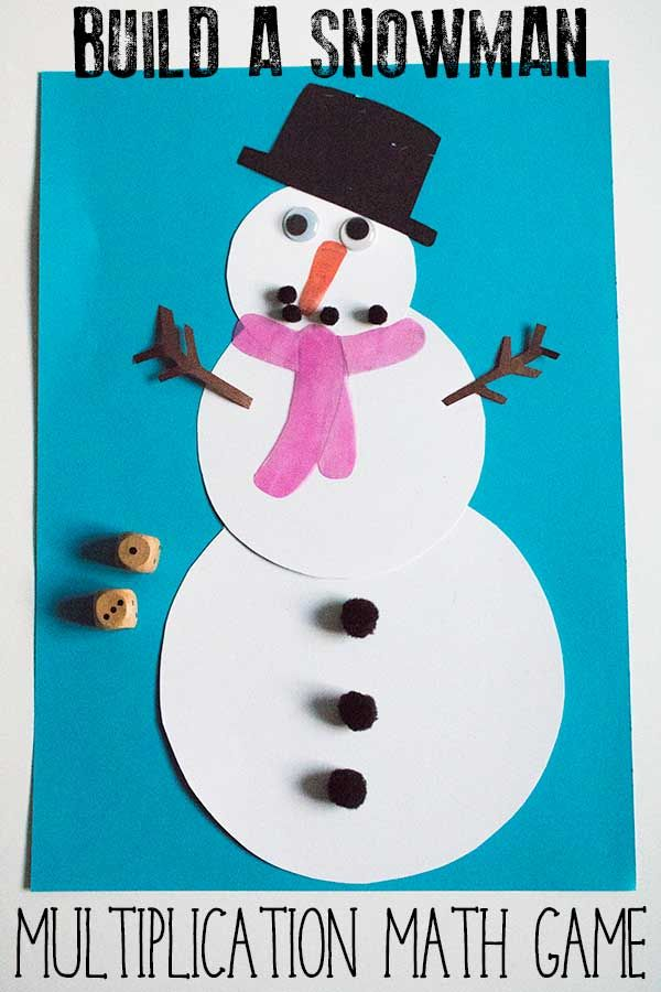 Build a Snowman Multiplication Math Game | Multiplication, Math and ...