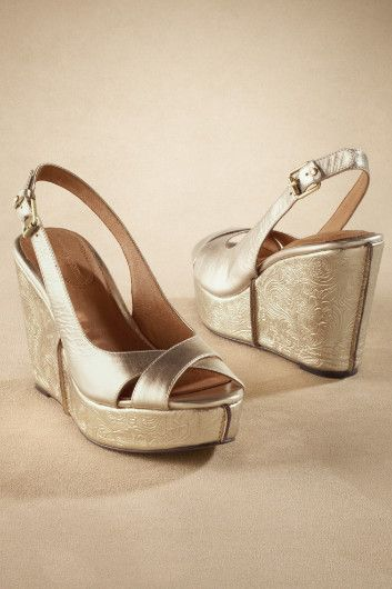 Soft Surroundings Bride Shoes Wedges White And Gold Shoes Bride Shoes