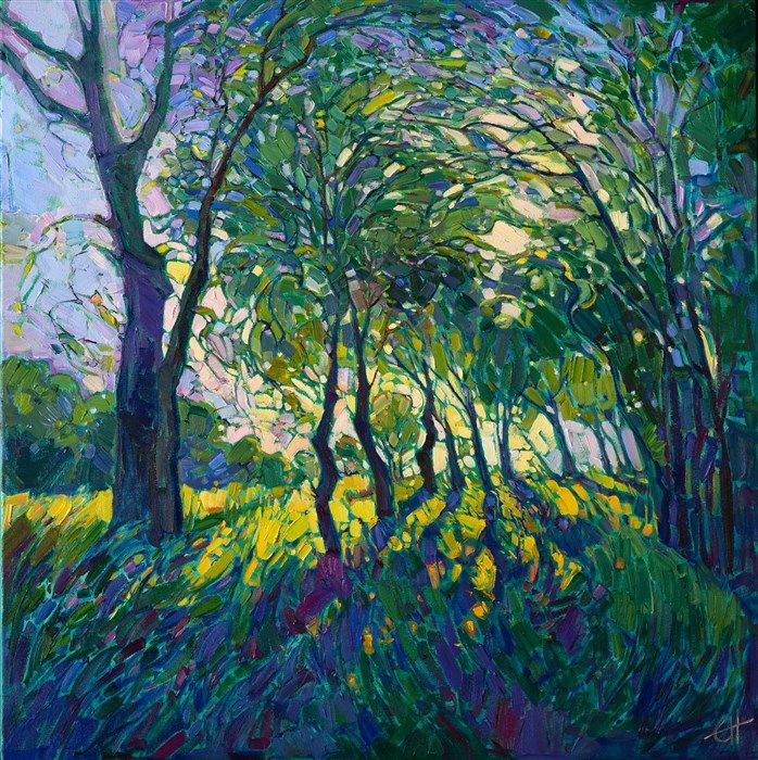A Contemporary Expressionist Landscape Oil Painting By Modern Artist Erin Hanson Expressionist Landscape Landscape Artist Landscape Art