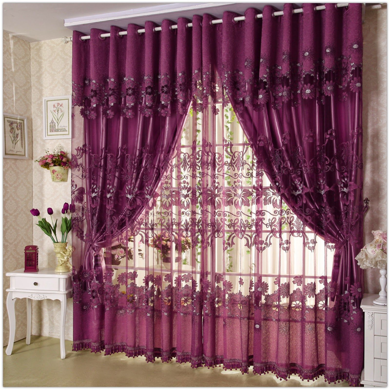 Modern living room curtains drapes - Unique Curtain Designs For Living Room Window Decorations