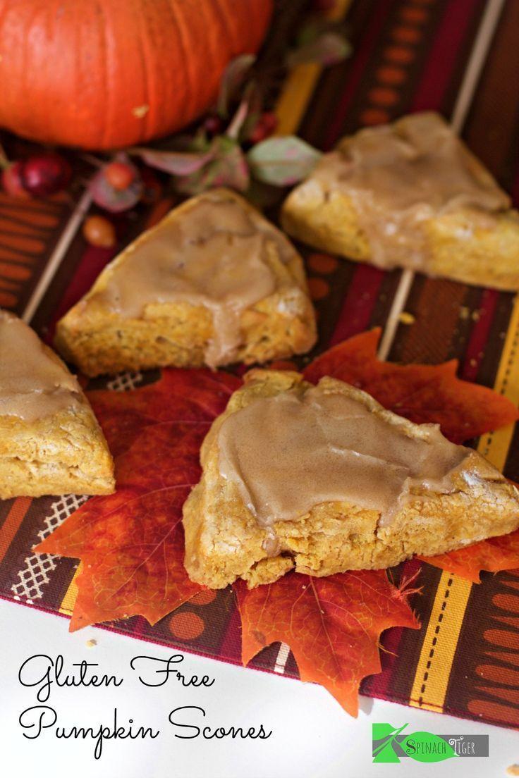 Gluten Free Pumpkin Scones How to Make Gluten Free Pumpkin Scones with Maple Glaze from Spinach TIger