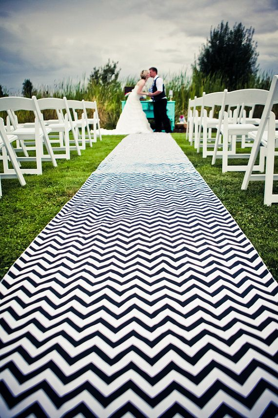 Beautuful Wedding Aisle Runner In Nautical Navy By Tieingthheknot 109 00