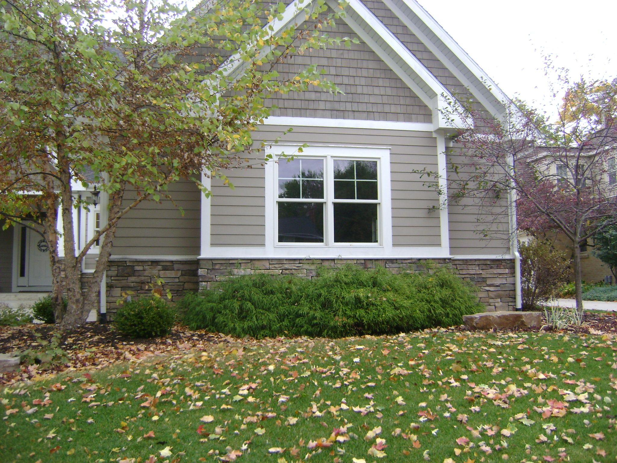 Craftsman exterior house paint ideas - Taupe Exterior White Trim I Wonder If I Could Put Shingling Anywhere On Our Exterior House Paintsexterior