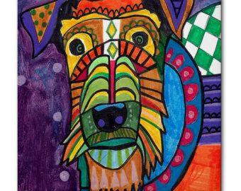 50% Off Chinese Chongging Dog art Tile Ceramic by HeatherGallerArt