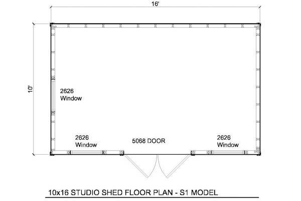 10x16 Shed Floor Plan Shed Floor Plans Diy Shed Plans Free Shed Plans