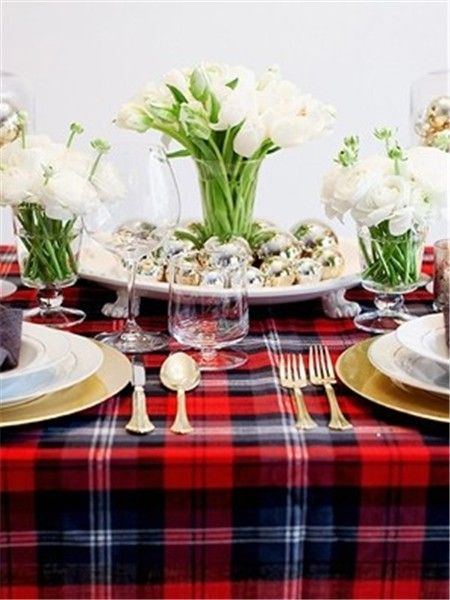 christmas red black plaid tablecloth christmas table settings red tartan table runner christmas red plaid tablecloth wwwloveitsomuchcom - Christmas Plaid Table Runner