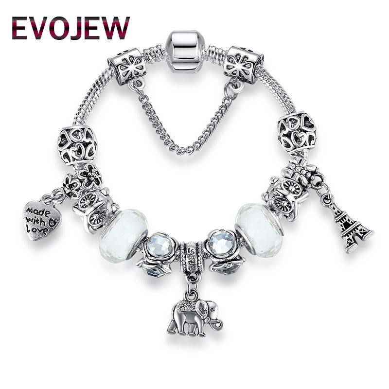 fc00d0a98 Authentic Silver Plated 925 Starfish Eiffel Tower Snowflake Crystal ...