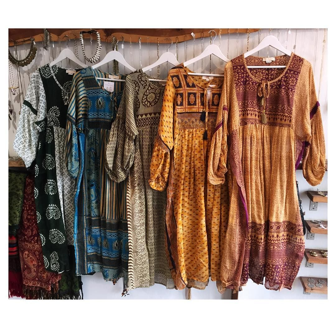 Just Put Out Lots Of New Indian Maxi Dresses Out Mostly L And Xl Some Are Thicker Cotton For The Winter Vintage Clothes Shop Vintage Outfits Bohemian Clothes