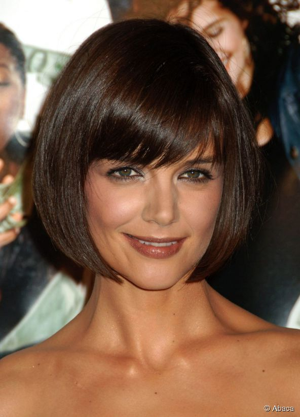 Perfect In January 2008, Katie Holmes Changed Her Hairstyle To A Layered Bob .