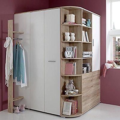 Amazon De Eck Kleiderschrank Begehbar Garderobe Sonoma Eiche