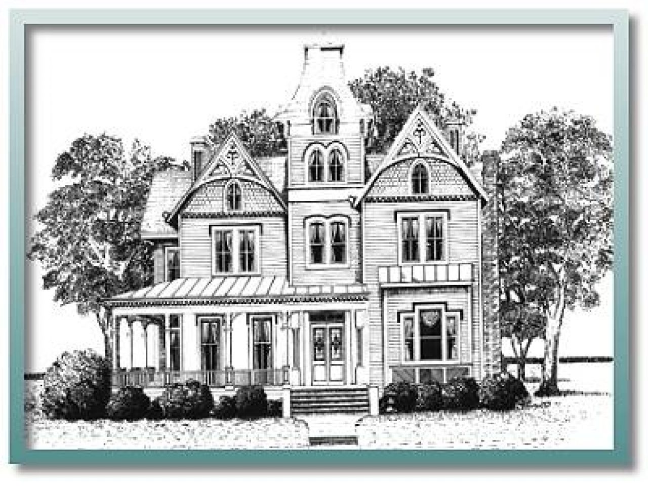 historic house plans victorian lrg colonial floor old | Home Design ...
