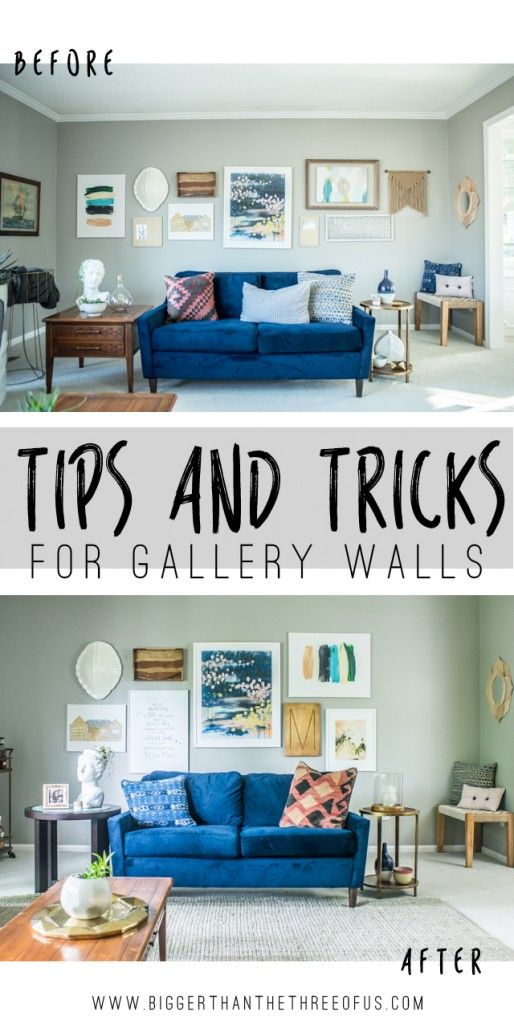 Love the change! A gallery wall makes a big decor difference!