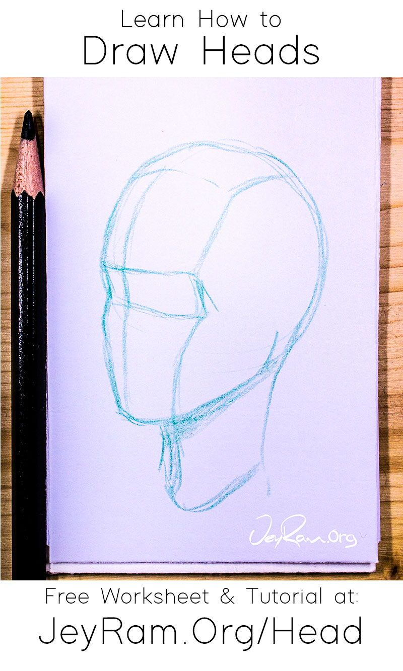 How to Draw the Head from Any Angle : Free PDF Worksheets & Video Tutorial — JeyRam : Fairy Art