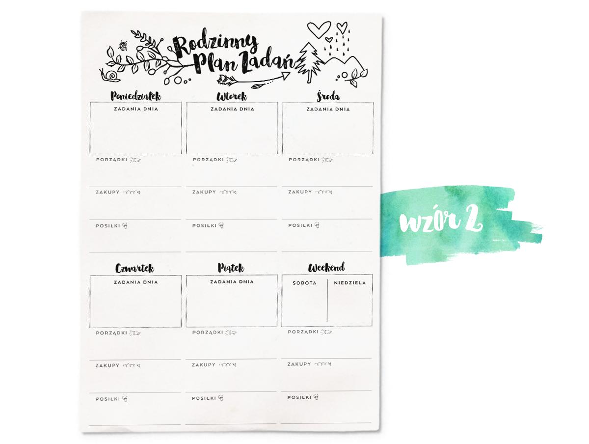 Plan Zadan Dla Rodziny Bujo Inspiration Planner Paper Planner