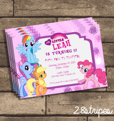 My little pony birthday party invitation cumple gaby 3 my little pony birthday party invitation filmwisefo Images