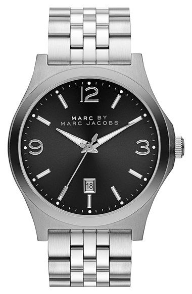 Free shipping stylish brand modern Revo Revo Modern Fivelink Bracelet Accents The Clean Handsome Design Of Stylish Round Watch Finished With Signature Branded Dial Free Shipping Pinterest Free Shipping And Returns On Marc By Marc Jacobs danny Round