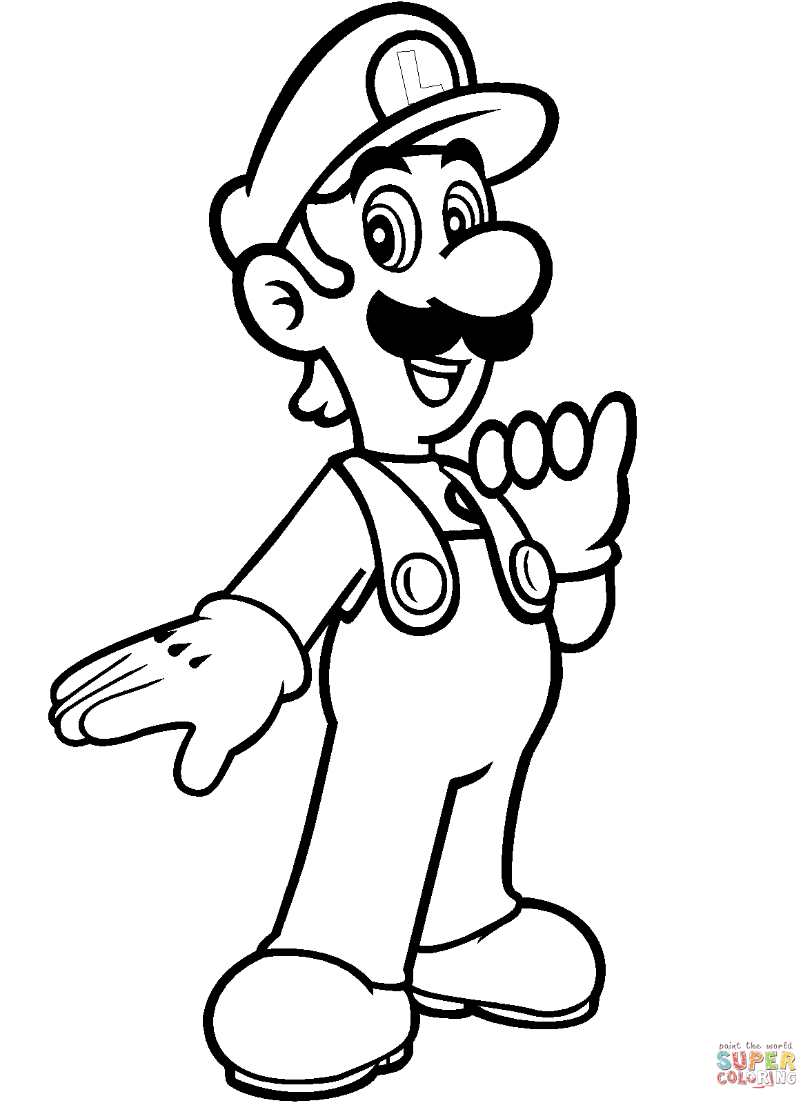 Super Mario Luigi Coloring Pages