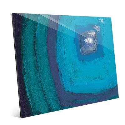 Click Wall Art 'Attraverso Black hole Abstract' Painting Print  Size: 11″ H x 14″ W x 1″ D