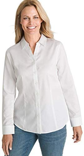 Enjoy exclusive for Chico's Women's No-Iron Sateen Caroline Shirt online – Favortrendyfashion