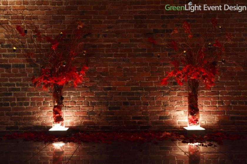 LED Light Pad Under-lighting wedding arrangements Custom