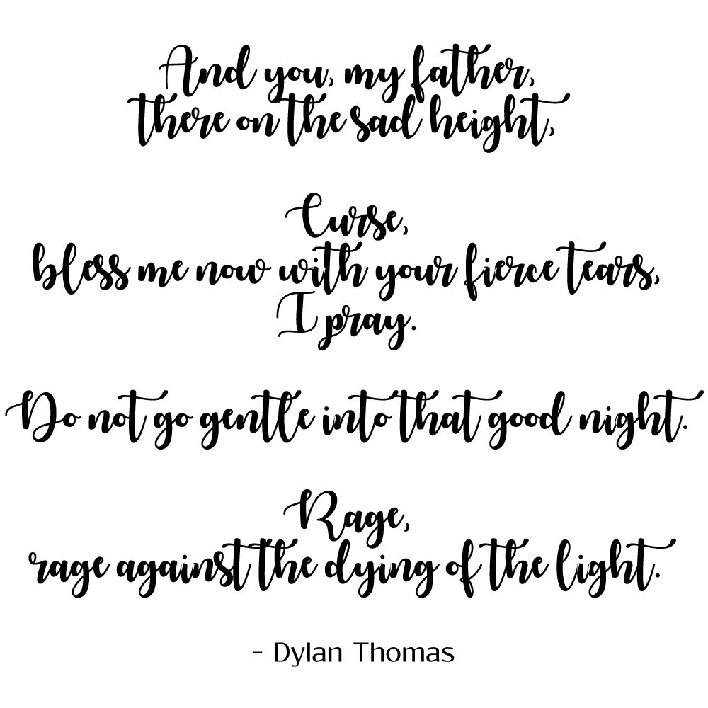 Do Not Go Gentle Into That Good Night Dylan Thomas With Images