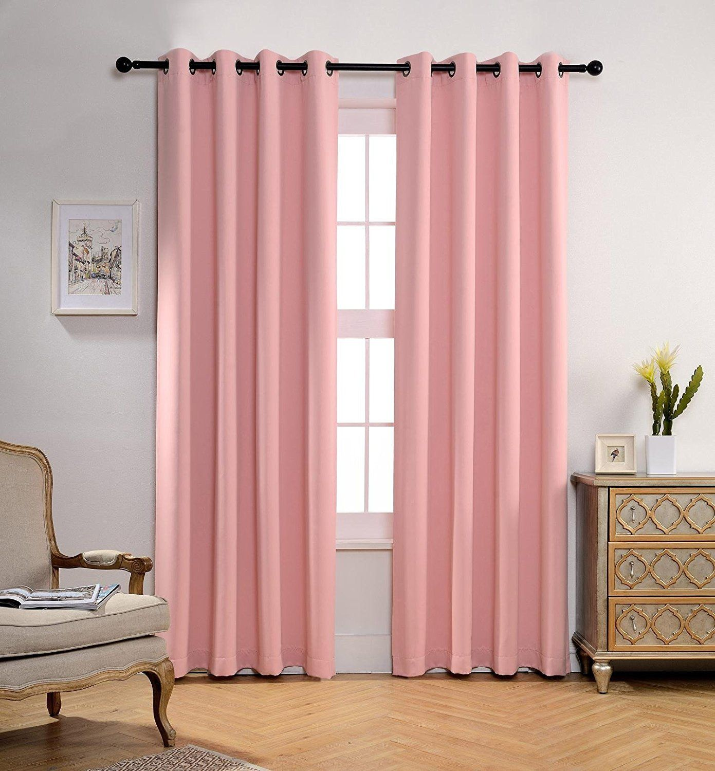 Room Darkening Thermal Insulated Blackout Grommet Window Curtain Panels Set W Tie Backs Insulated Blackout Curtains Curtains Thermal Insulated Blackout Curtains