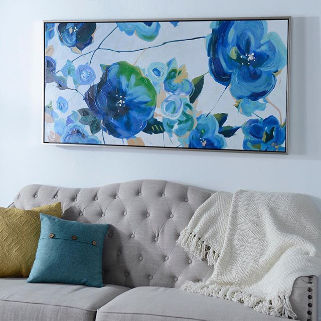 Our variegated blues framed canvas art print will liven up any room with rich shades of blue featuring a silver frame its sure to catch the eye of any