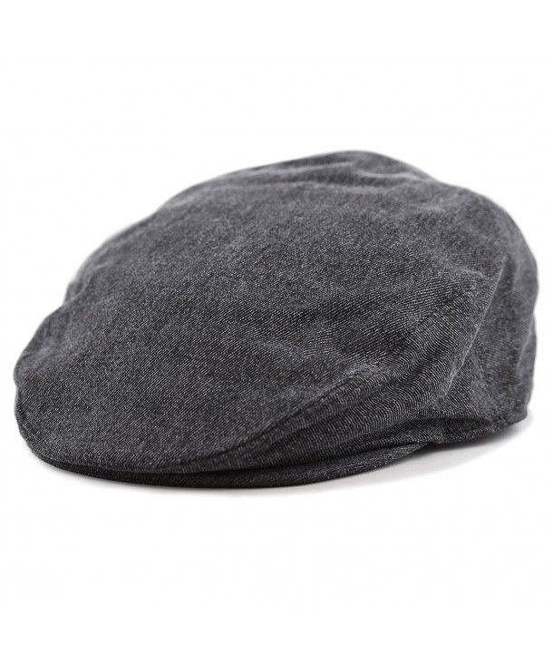 bd54aa0f1d5f8 Washed Denim Cotton newsboy IVY Cap Style Hat Black CQ12O8XHI8X ...