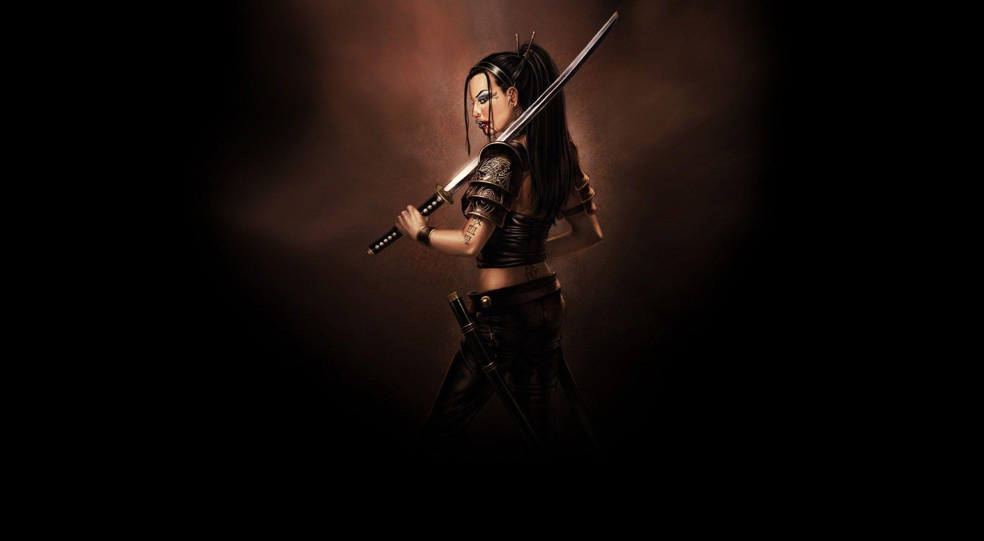 download samurai sword wallpaper 1920x1080 | sharovarka