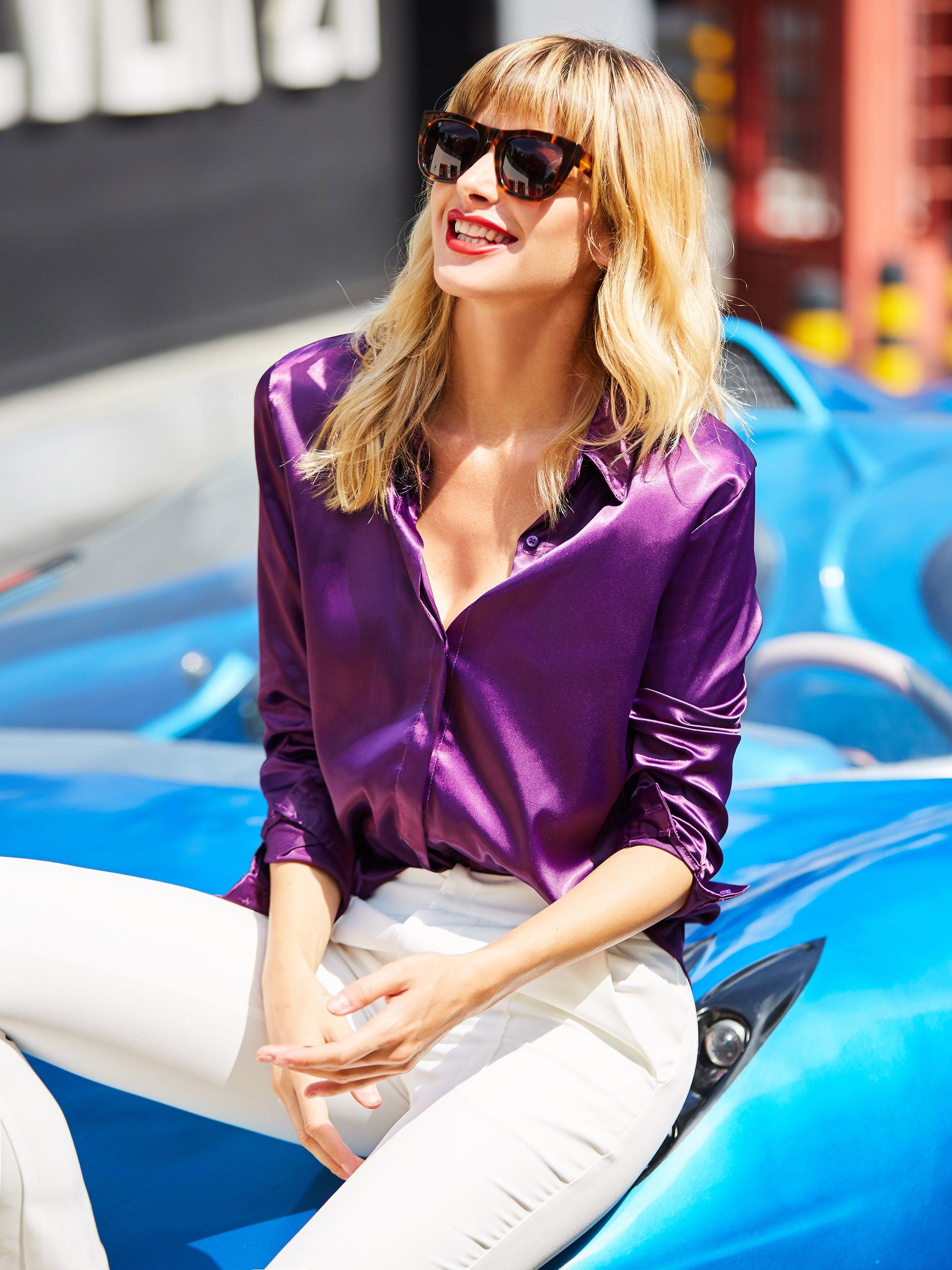Purple Blouse Women Blouse woman Purple shirt Woman Purple blouse