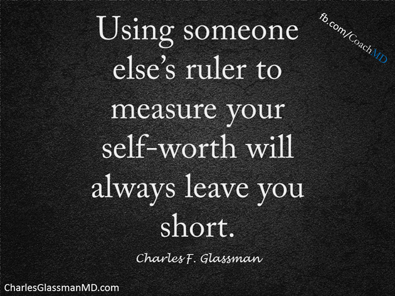 how do you measure your own sense of self worth?