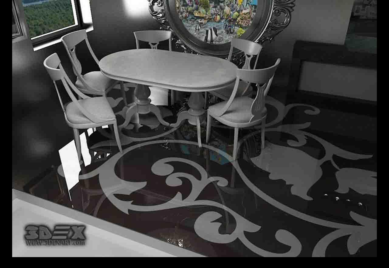 3D flooring design 3D epoxy floor coating