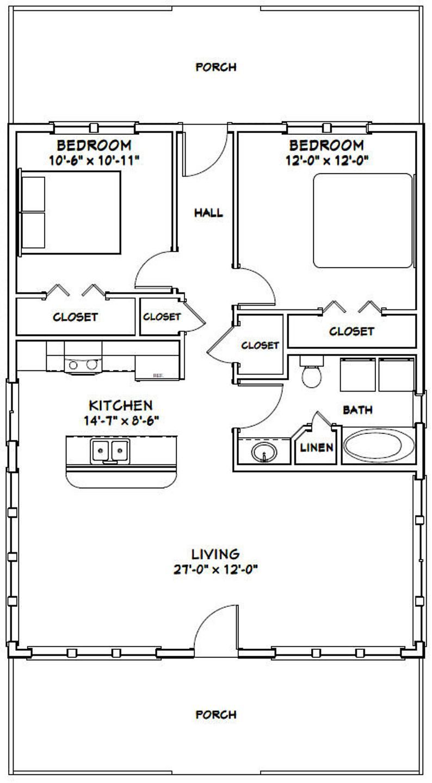 28x36 House 2Bedroom 1Bath 1,008 sq ft PDF