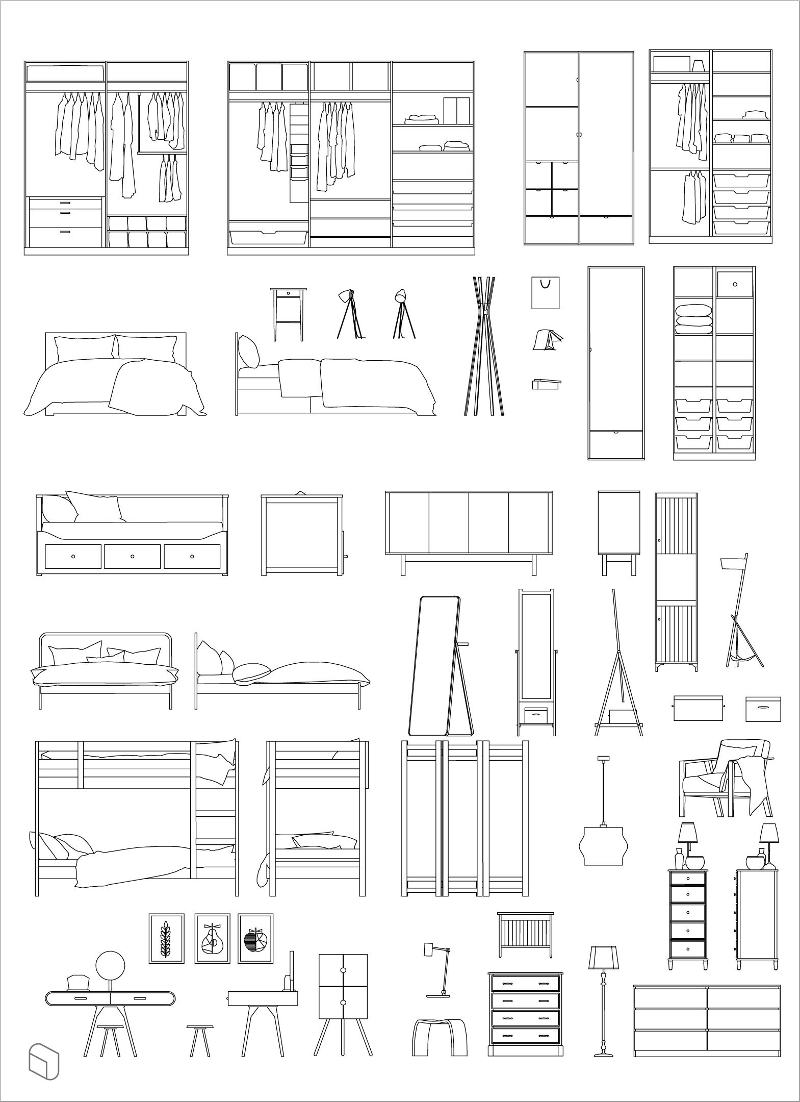 Cad Dwg Zeitgenössische Möbel für Architektur & Innenarchitektur | Dwg Ai Pdf ... #interiordesigntips