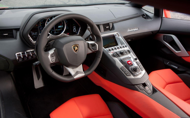 Inside view of Lamborghini Aventador LP 700-4 Red | Cars ...