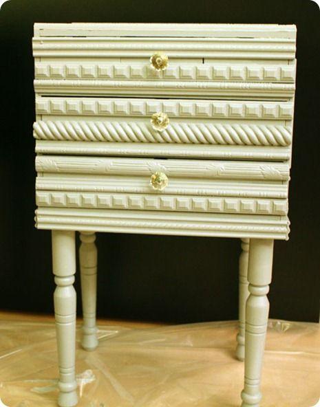 adding trim to dresser or jewelry armoire Add decorative