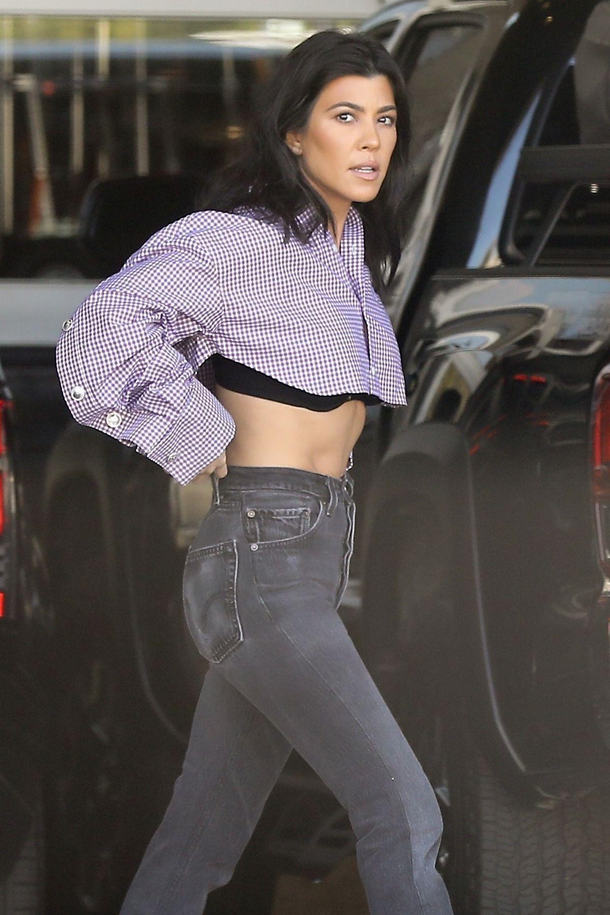 Kourtney Kardashian in Shorts Dress -07   GotCeleb