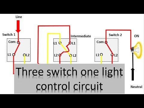 23 3 switch one light control diagram three way lighting circuit rh pinterest com