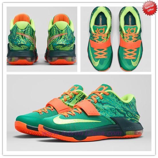 Cheap 653996303 Nike KD 7VII Emerald Green Metallic Silver Dark