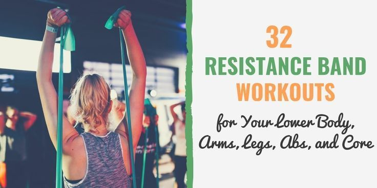 32 Resistance Band Workouts for Lower Body Arms Legs Abs and Core  Blog Eng  Band İdeas #armbandworkouts