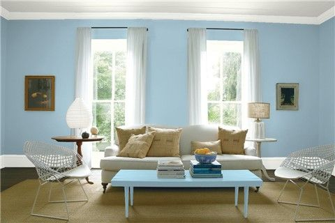 Look At The Paint Color Combination I Created With Benjamin Moore Via Wall Mediterranean Sky 1662 Trim Oxford White 869