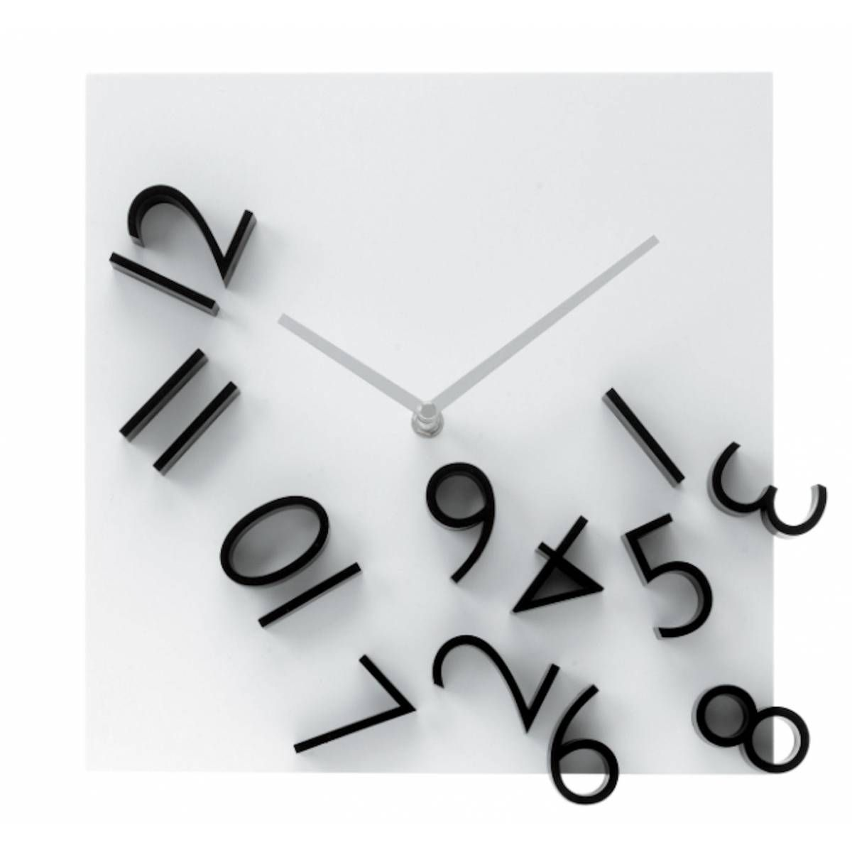 Nice Image Detail For  Home U203a Clocks U203a Karlsson Falling Numbers Wall Clock Design
