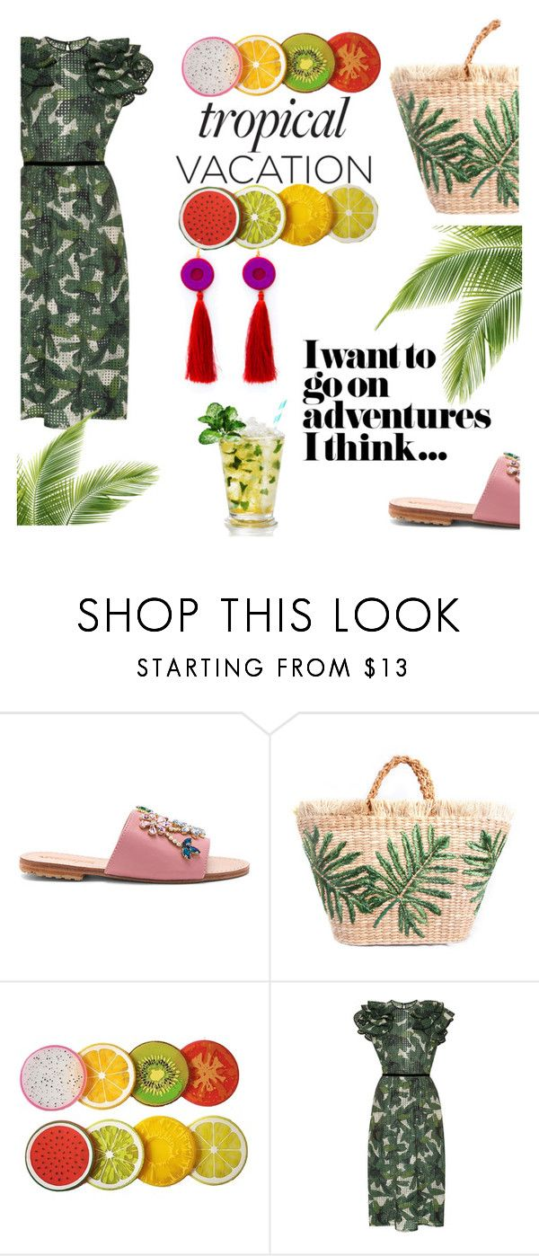 """tropical vacation"" by lianafourmouzi ❤ liked on Polyvore featuring Mystique and Johanna Ortiz"