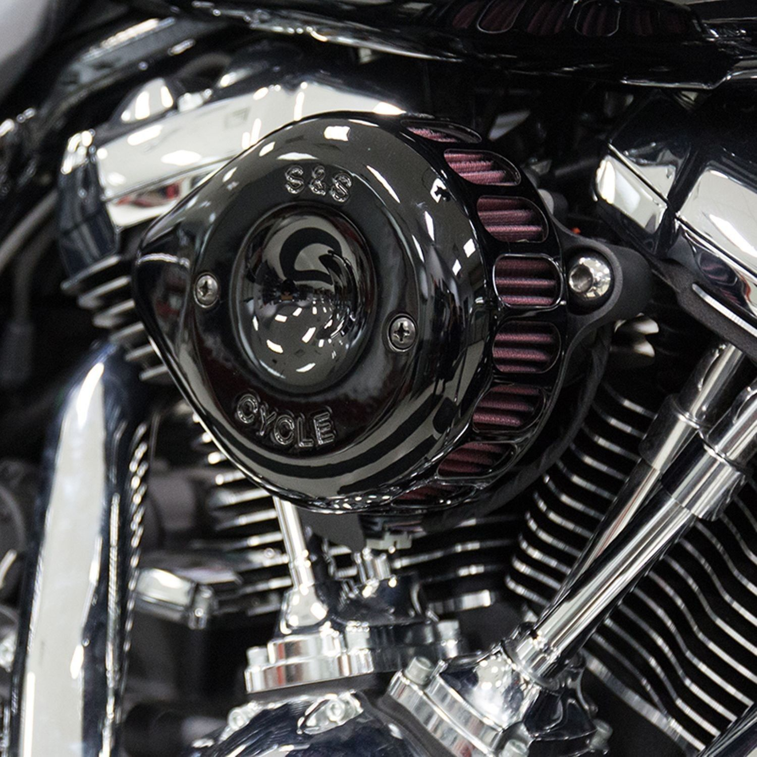 Harley S S Black Mini Teardrop Stealth Air Cleaner Kit For Harley Davidson M8 2017 Up Please Retweet Black Mini Air Cleaner Softail