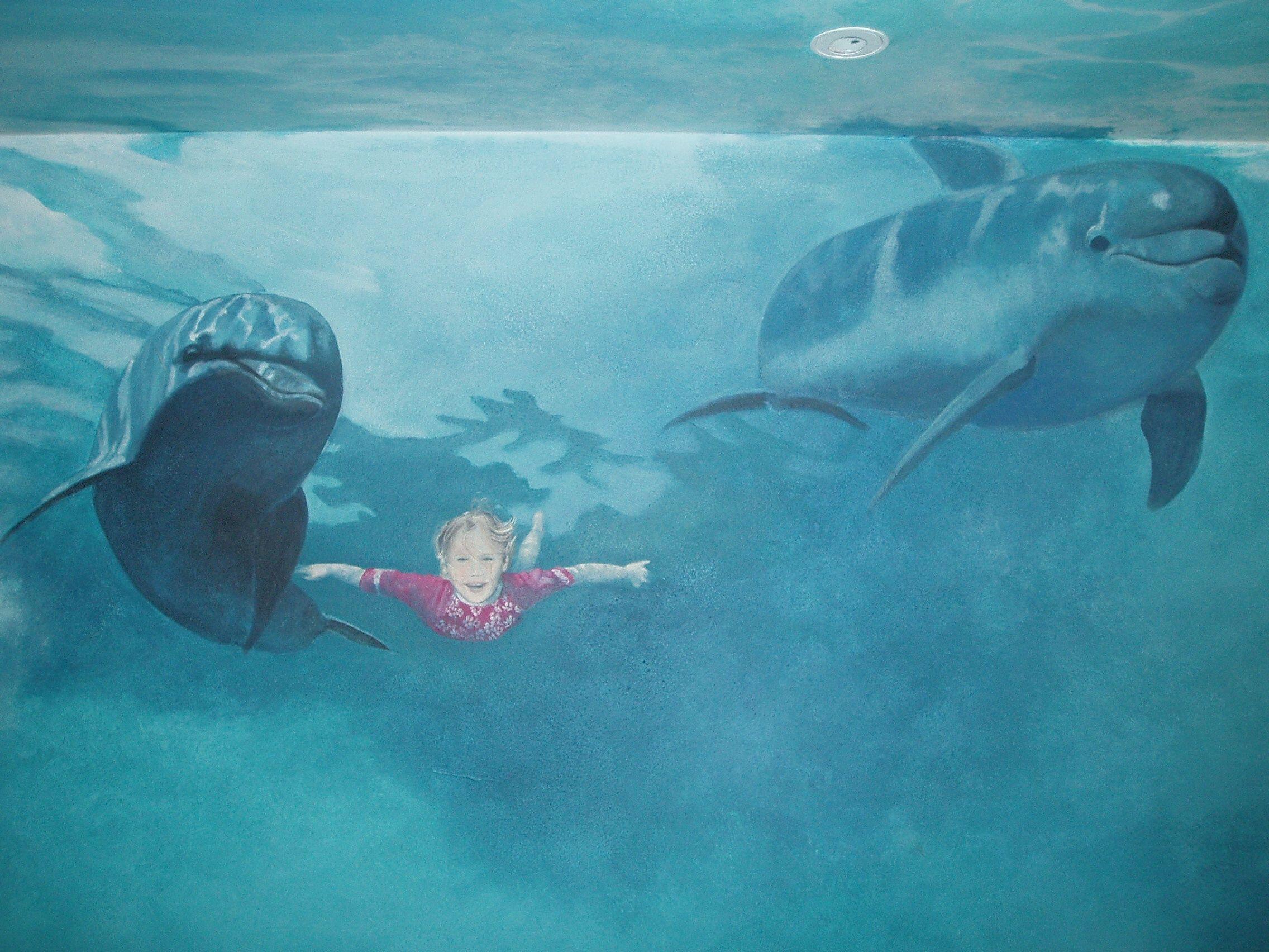 underwater mural kids bathroom ideas rh pinterest pt