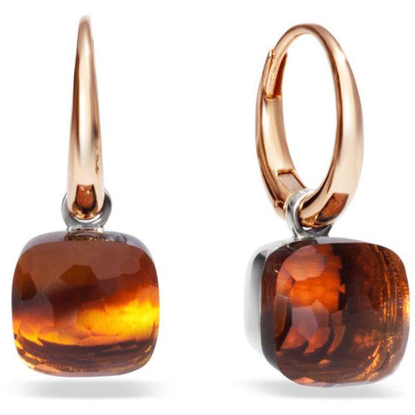 Pomellato Earrings Nudo ($3,215) ❤ liked on Polyvore featuring jewelry, earrings, orange, orange jewelry, white gold jewellery, orange earrings, earrings jewelry and pomellato jewelry