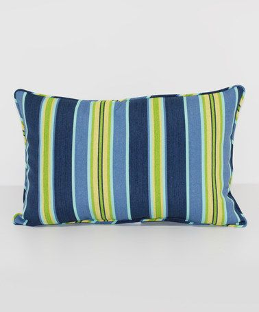 Loving this Jordana Stripe Leaf Throw Pillow on #zulily! #zulilyfinds