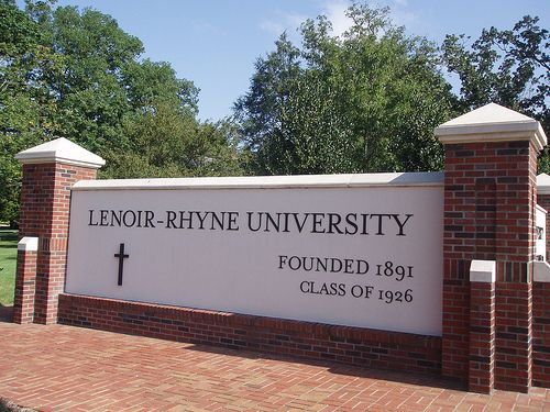 Lenoir-Rhyne University - Welcome. Yup - I was there when it was a college...