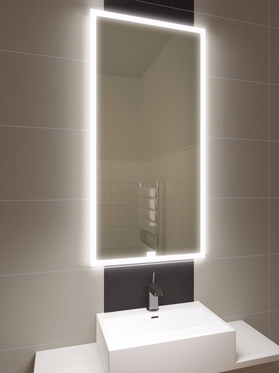 Halo Tall LED Light Bathroom Mirror | Backlit bathroom ...